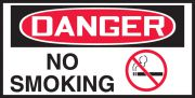 OSHA Danger Safety Label: No Smoking