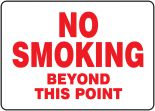 Safety Sign: No Smoking Beyond This Point