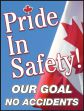 Safety Posters: Pride In Safety - Our Goal - No Accidents (Canadian)