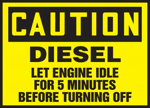 DIESEL LET ENGINE IDLE FOR 5 MINUTES BEFORE TURNING OFF