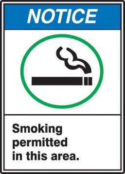 SMOKING PERMITTED IN THIS AREA (W/GRAPHIC)