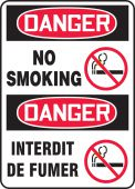 - BILINGUAL FRENCH SIGN - SMOKING CONTROL