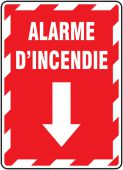 - BILINGUAL FRENCH SIGN – FIRE ALARM