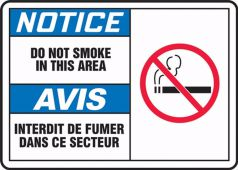 - BILINGUAL FRENCH LABEL - SMOKING CONTROL