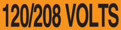- Voltage Markers: 120/208 Volts