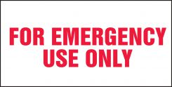 - Safety Label: For Emergency Use Only