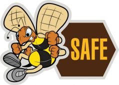 - Hard Hat Stickers: (Bee) Safe