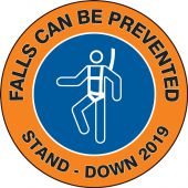 - Hard Hat Sticker: Falls Can Be Prevented - 2019 Stand-Down