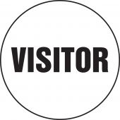 - Hard Hat Stickers: Visitor