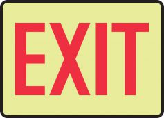 - Lumi-Glow™ Safety Sign: Exit