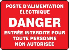 - BILINGUAL FRENCH SIGN – ELECTRICAL