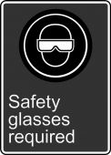 - Safety Sign: Safety Glasses Required