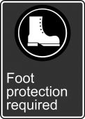 - Safety Sign: Foot Protection Required