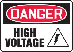 - OSHA Danger Safety Sign: High Voltage With Graphic
