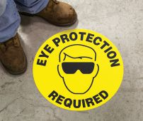 - Slip-Gard™ Floor Sign: Eye Protection Required (Graphic)