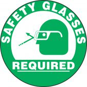 - Slip-Gard™ Floor Sign: Safety Glasses Required