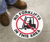 - Slip-Gard™ Floor Sign: No Forklifts In This Area