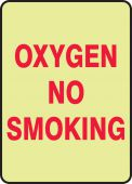 - Safety Sign: Oxygen No Smoking