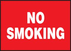 - Lite-Corr Plastic Sign: No Smoking