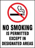 - Smoking Control Sign: No Smoking Is Permitted Except In Designated Areas