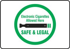 - Designated Smoking Area Sign: Electronic Cigarettes Allowed Here - Safe & Legal
