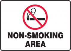 - Safety Sign: Non-Smoking Area