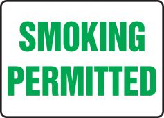 - Safety Sign: Smoking Permitted