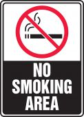 - Safety Sign: (Graphic) No Smoking Area