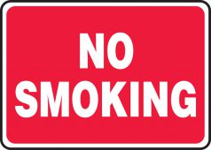 - Safety Sign: No Smoking