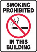 - Smoking Control Sign: Smoking Prohibited In This Building