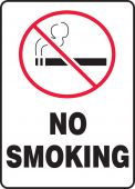 - Bilingual Safety Sign: No Smoking (Symbol)
