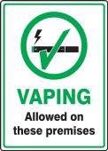 - Designated Smoking Area Sign: Vaping Allowed On These Premises