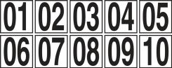 - Sequential Number Markers: 3 1/2-in.
