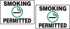 - Tabletop Sign: Smoking Permitted