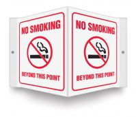 - Projection™ Sign: No Smoking Beyond This Point (Symbol)