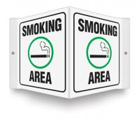 - Projection™ Sign: Smoking Area (Symbol)