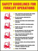 - Safety Posters: Safety Guidelines For Forklift Operations