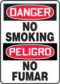 - Bilingual Contractor Preferred OSHA Danger Safety Sign: No Smoking