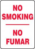 - Spanish Bilingual Smoking Control Sign: No Smoking