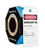 - OSHA Danger Tags By-The-Roll With Grommets: Barricade Tag