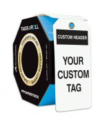 - Custom Tags By-The-Roll With Grommets