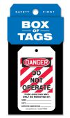 - Box of Tags: OSHA Danger - Do Not Operate