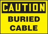 OSHA Caution Safety Label: Buried Cable