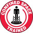 Hard Hat Stickers: Confined Space Trained