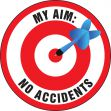 Hard Hat Stickers: My Aim: No Accidents