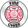 Emergency Response Reflective Helmet Sticker: Fire Rescue Fire Chief