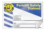 Safety Label: Forklift Safety Trained