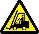 ISO Warning Safety Label: Lift Truck Hazard (2011)
