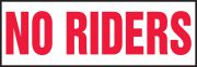 Safety Label: No Riders