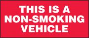 Safety Label: This Is A Non-Smoking Vehicle